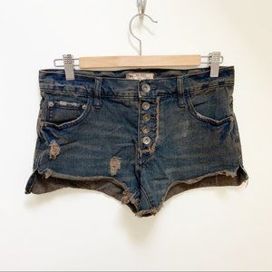 Free people button front Denim jeans 24